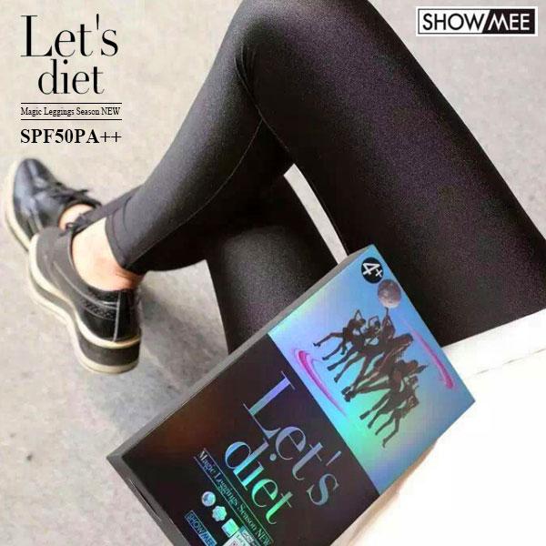 韓國正品 Let's diet 光澤褲 亮面 內搭褲 顯瘦 彈性 長褲 瘦腿襪 皮褲 黑 正韓 Lets diet 防曬