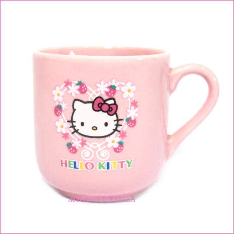 asdfkitty可愛家☆KITTY花圈濃縮咖啡杯/義式咖啡杯-日本正版商品