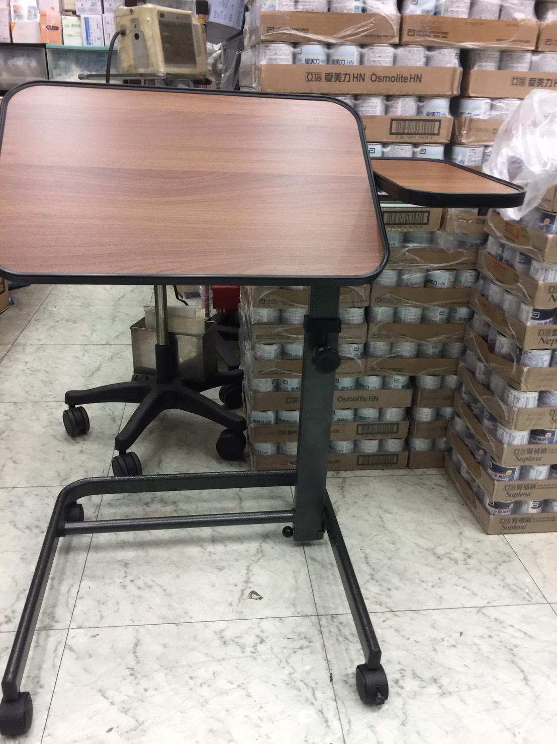 永大醫療~可收可調角度輪餐桌板/移動式餐桌版/升降餐桌板/工作桌/床上桌~特價1680元