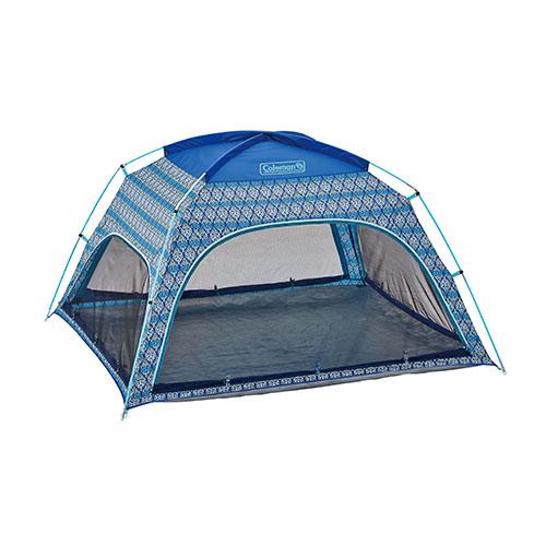 【露營趣】中和 美國 Coleman 藍葉圖騰遮陽帳 沙灘帳 野餐帳 海灘帳篷 CM-22107