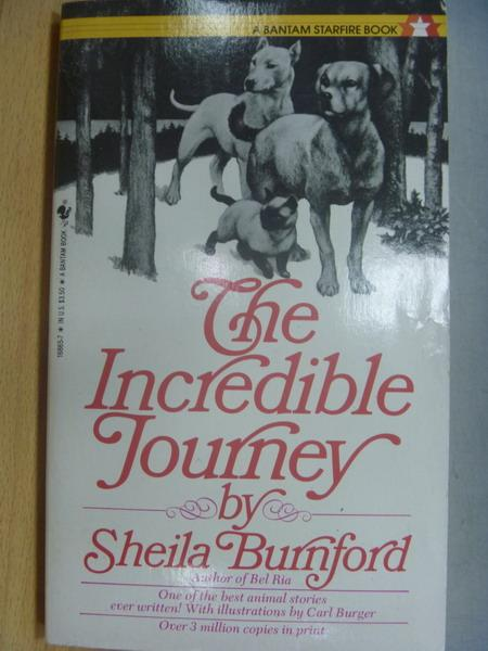 【書寶二手書T1/原文小說_MRP】The Incredible Journey_Sheila