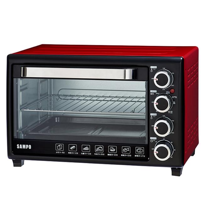 ◤A級福利出清品‧限量搶購中◢SAMPO 聲寶 30L 雙溫控油切旋風烤箱 KZ-SF30F