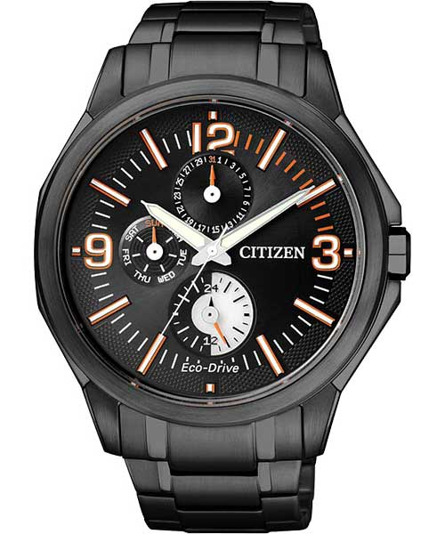 CITIZEN星辰AP4005-54E炫黑耀色時尚光動能男錶/黑面42mm