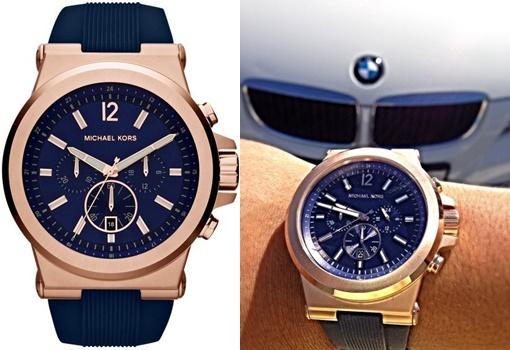 【Cadiz】美國真品正品 Michael Kors 男士藍色錶盤經典計時腕錶 [MK8295/ 代購/ 現貨]