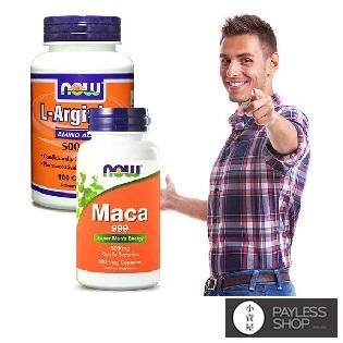 【小資屋】NOW健而婷-真男人套組(瑪卡MACA+精胺酸一氧化氮)