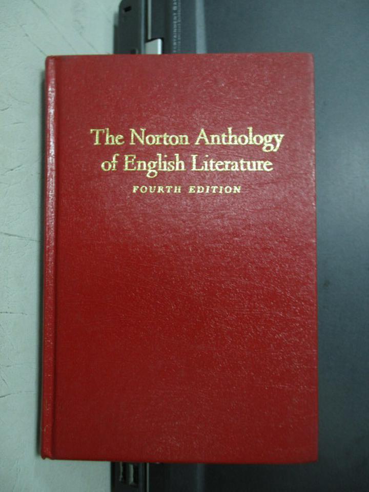 【書寶二手書T4/原文小說_JSD】The norton anthology of english..._民71年