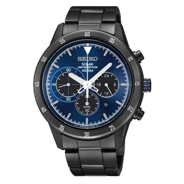 Seiko Spirit V175-0DD0B(SSC345P1)極致競速太陽能計時腕錶/藍面41mm