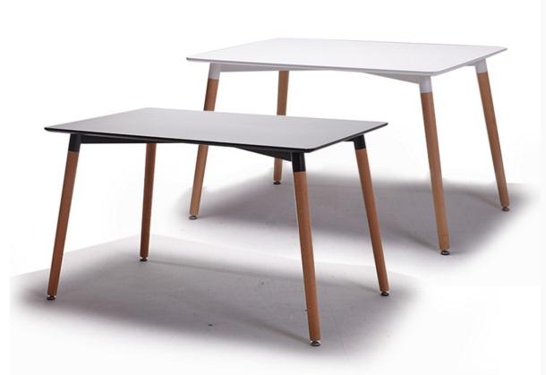 《Chair Empire》120長桌EAMES餐桌DSW伊姆斯餐桌休閒長方桌時尚圓桌 復刻版 白/黑