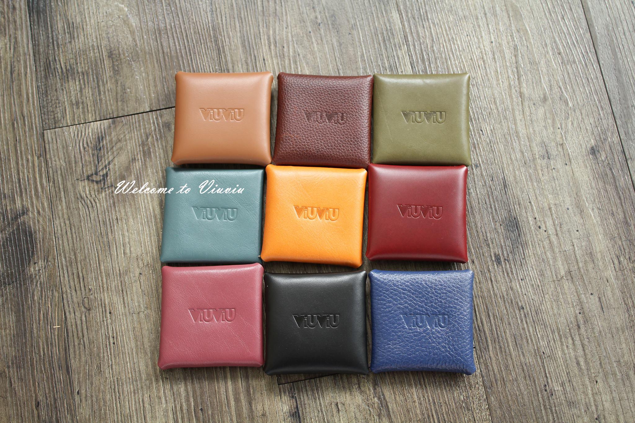 VIUVIU(獨家現貨)日系靈感原創設計 頭層牛皮四方零錢包 真皮零錢包 真皮皮包皮件 台灣製 附牛皮紙盒包裝