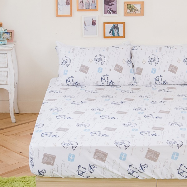 [SN]#B167#寬幅100%天然極緻純棉5x6.2尺雙人床包+枕套三件組*台灣製/SGS檢驗/床單/床巾
