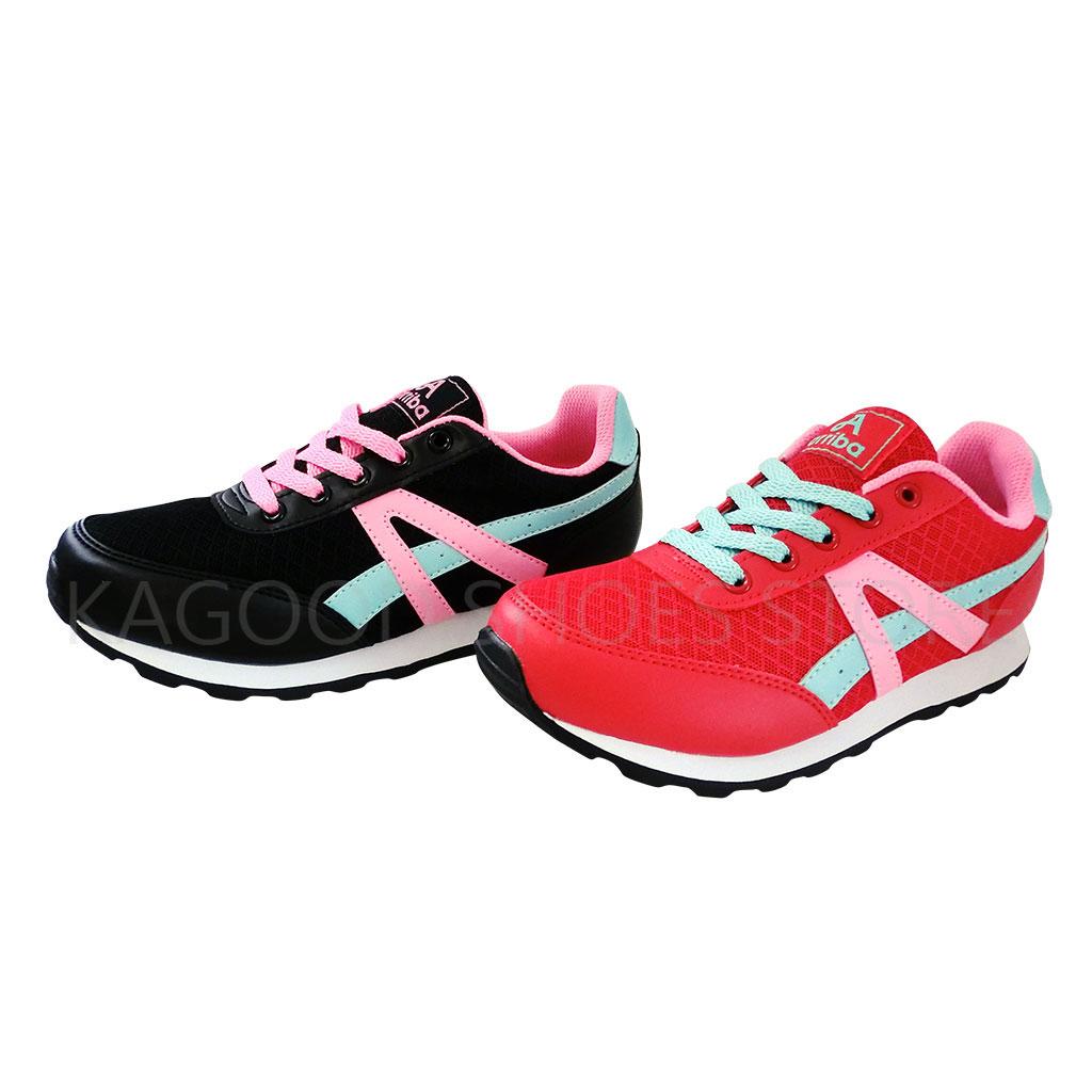 Arriba AB-8006 慢跑鞋 休閒鞋 紅/ 黑色款 女鞋