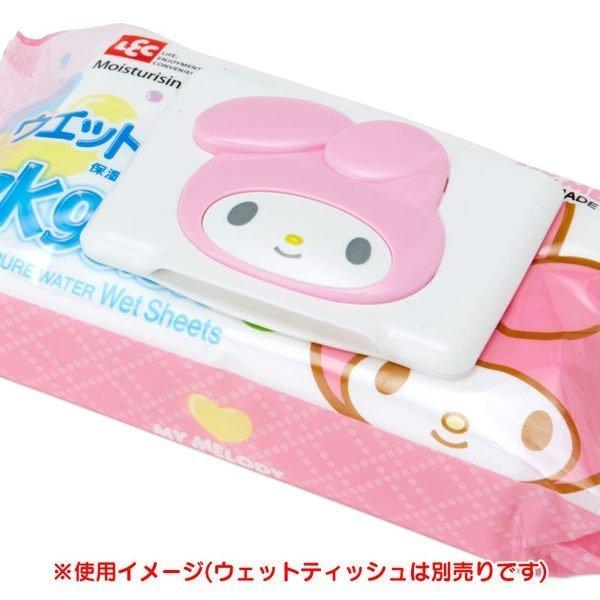 『日本代購品』三麗鷗 美樂蒂 可重複黏貼 濕紙巾蓋 濕巾蓋
