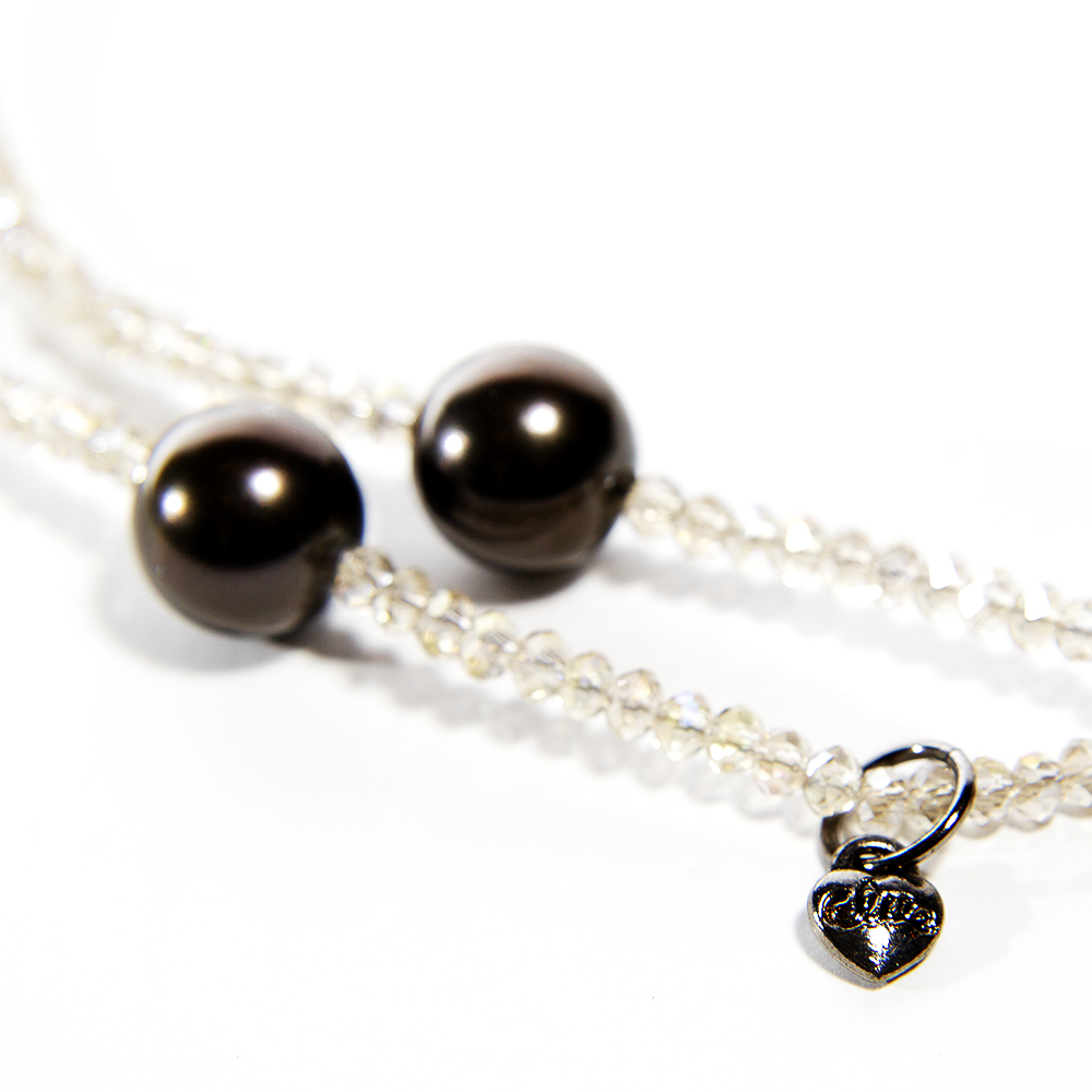 韓國 CLUE 黑珍珠項鍊