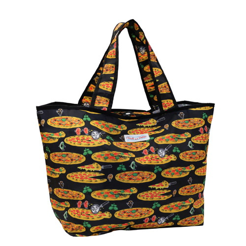 培根大披薩尼龍購物袋