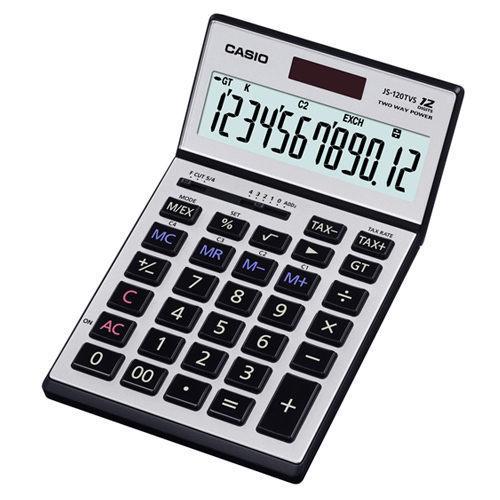 【台中*現貨*公司貨*附保卡】CASIO卡西歐 JS-120TVS計算機-12位數 另有MX-120B/MS-8B/DM-1200BM