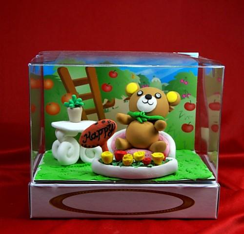 小熊捏麵人 盒長 10.1cm* 寬15.3 cm * 高13 cm【捏麵人】