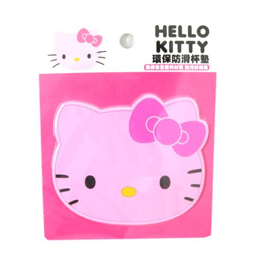【真愛日本】15091900008環保防滑杯墊-KT粉  三麗鷗 Hello Kitty 凱蒂貓  杯墊  止滑墊  墊子