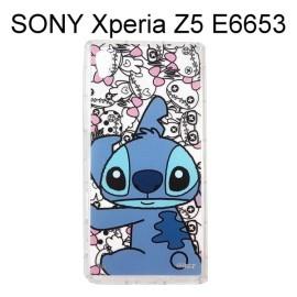 迪士尼空壓透明軟殼 [主題] 史迪奇 SONY Xperia Z5 E6653【Disney正版授權】