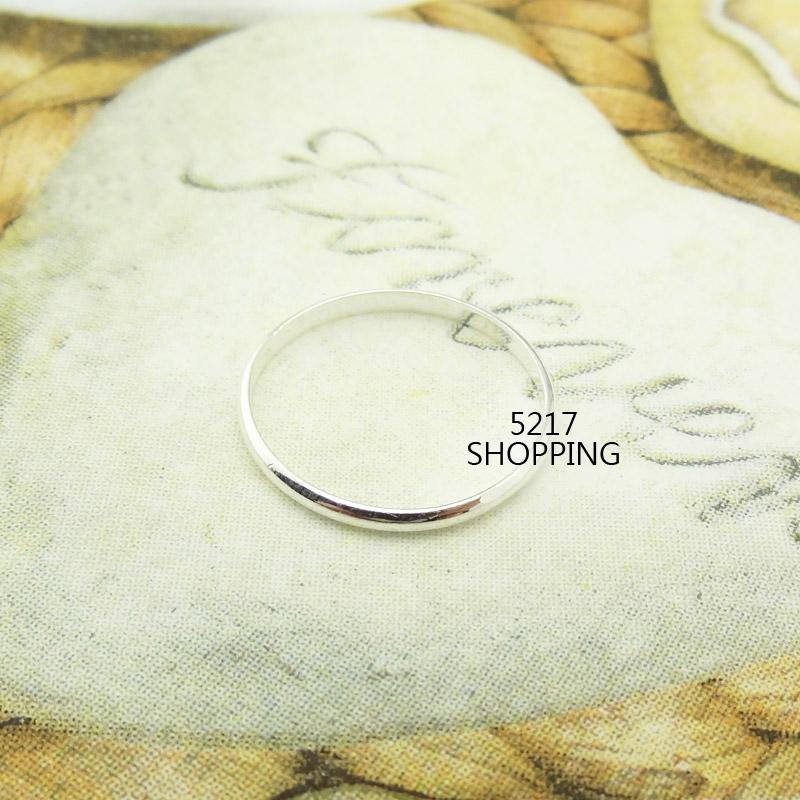 銀飾【純銀細緻單圈環戒指】925純銀戒指 亮面 細版 簡約 尾戒 5217SHOPPING