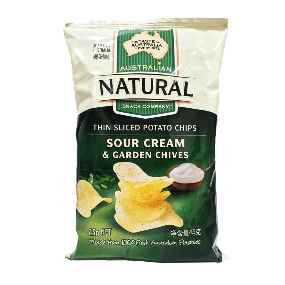 澳洲進口 NATURAL 洋芋片-酸奶香蔥45g