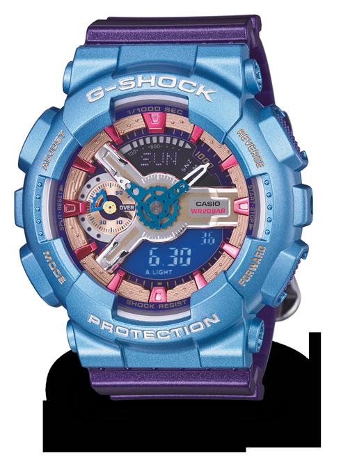 國外代購 CASIO G-SHOCK 縮小系列 GMAS110HC-6 藍紫海神 防水 手錶 腕錶 電子錶 男女錶