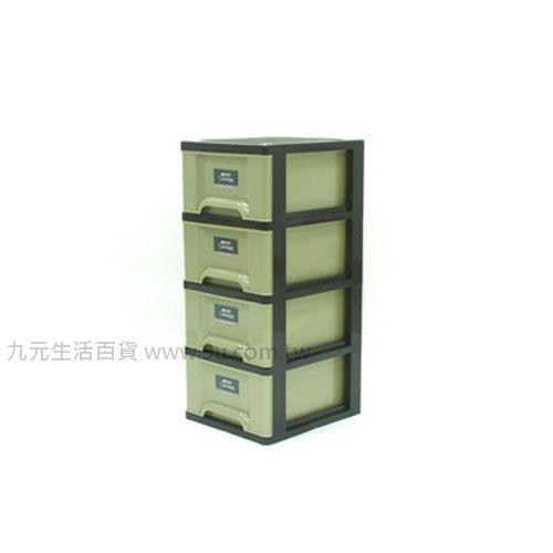 【九元生活百貨】聯府 GT4 加州四層櫃(附輪) 置物櫃 收納櫃