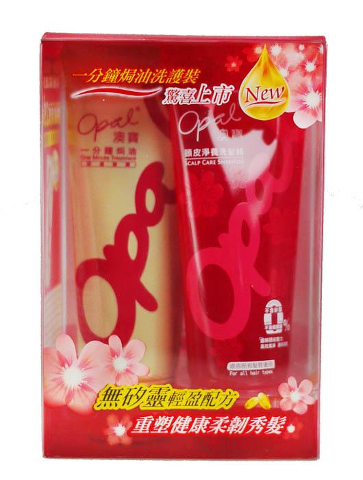 Opal 澳寶 黃金秀髮洗護雙件組/焗油洗護組 (深層修護焗油60ml+頭皮淨養洗髮精60ml)*夏日微風*
