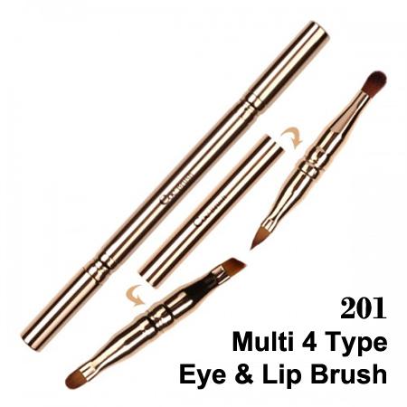 韓國 Coringco 四合一多功能造型筆刷 單支 專業彩妝刷具 眼線刷 眼影刷 眉刷 口紅刷 唇刷 【N201400】