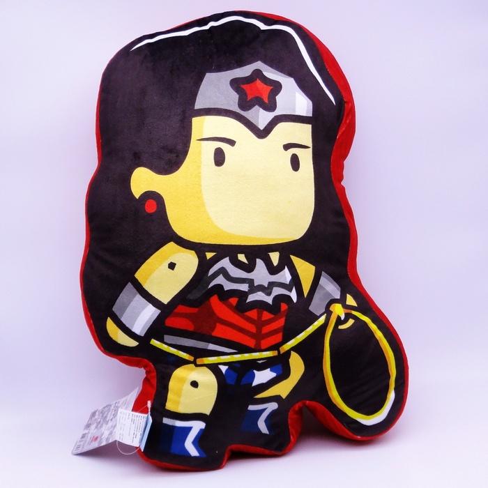【UNIPRO】神力女超人Wonder Woman Q版造型 抱枕 靠背枕 蝙蝠俠對超人 正義曙光 正版授權