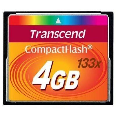 *╯新風尚潮流╭*創見記憶卡 4G CF 133X 終身保固 TS4GCF133