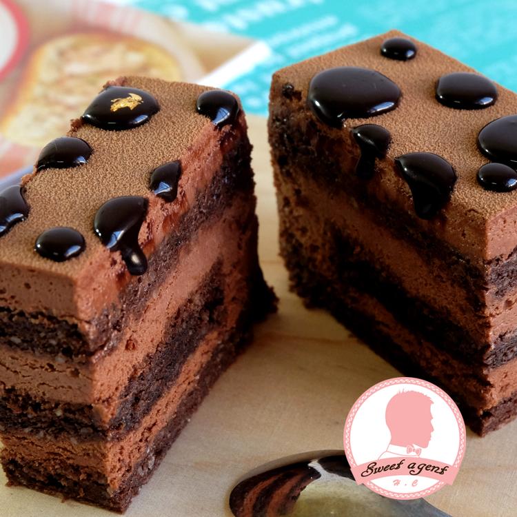 6吋免運【甜點特務】[魔鬼的眼淚巧克力蛋糕] 100%苦巧克力+巧克力鮮奶油+巧克力蛋糕