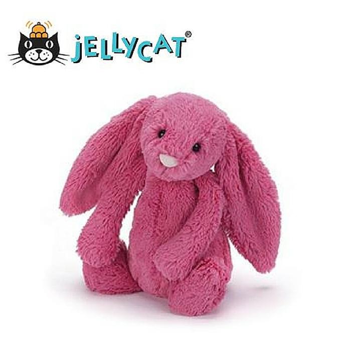 ★啦啦看世界★ Jellycat 英國玩具 安撫玩偶 / 毛絨絨兔51公分- 草莓色