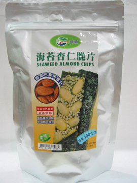 琦順~海苔杏仁脆片100公克/包