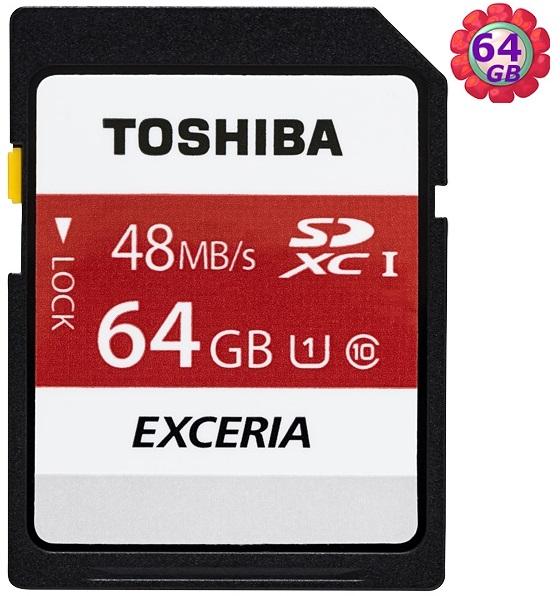 TOSHIBA 64GB 64G SDXC【48MB/s】EXCERIA SD C10 Class10 UHS-I UHS 相機記憶卡 東芝 記憶卡