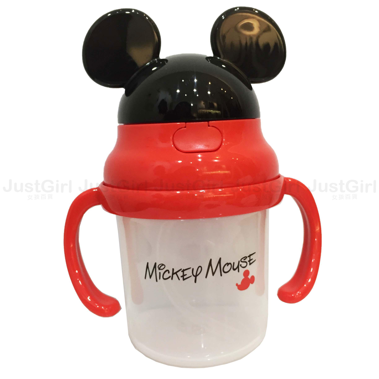 迪士尼 米奇 SKATER 學習杯 水壺 杯子 彈跳杯 230ml 嬰幼兒 餐具 正版日本進口 * JustGirl *