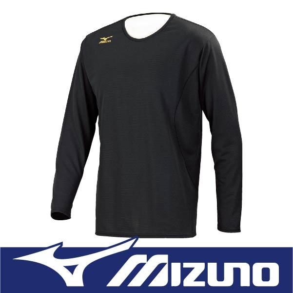 萬特戶外運動 MIZUNO 美津濃 32MA664309 男長袖發熱T恤 抗紫外線UPF30 保暖 黑色
