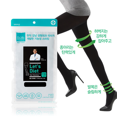 韓國 16年新款 Lets Diet 神奇美體襪(塑腿) 褲襪 彈力 顯瘦 美腿 內搭 褲襪 黑 Dr.Miz【N201441】