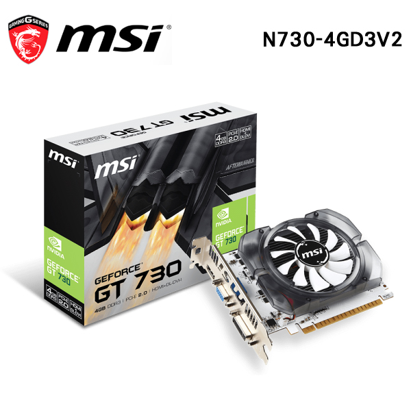 MSI微星 N730-4GD3V2 DDR3 4G 顯示卡