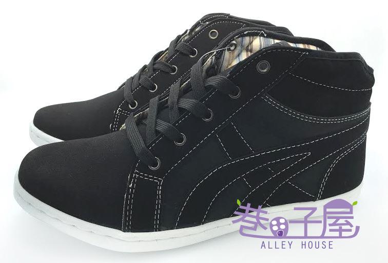 【巷子屋】MODERN CAMEL 男款紳士潮流高統運動休閒鞋 [5605] 黑 MIT台灣製造 超值價$398