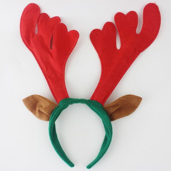 聖誕鹿角頭箍 聖誕髮箍 鹿角髮夾 鹿角頭飾(帶耳朵)/一包10個入{促40}可愛麋鹿角 聖誕頭圈~3909