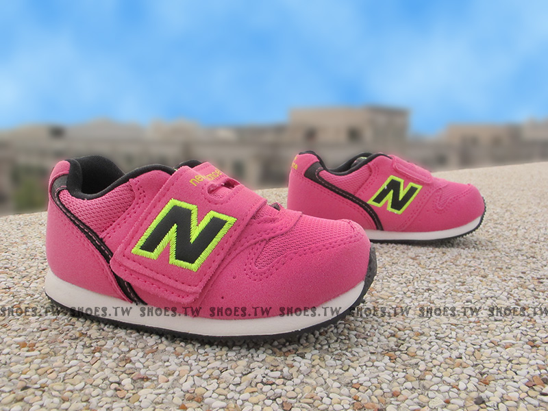 Shoestw【FS996MDI】NEW BALANCE 996 學布鞋 童鞋 運動鞋 小童 桃紅 螢光黃