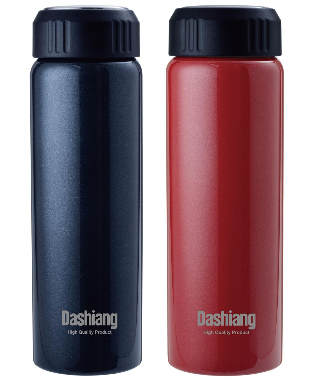 【RV運動家族】Dashiang 660ML真水濾網保溫瓶(黑、紅兩色)