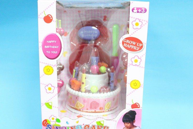 聲光音樂生日蛋糕 NO.6002 氣控蠟燭燈(大盒.附電池)/一組入{促299}