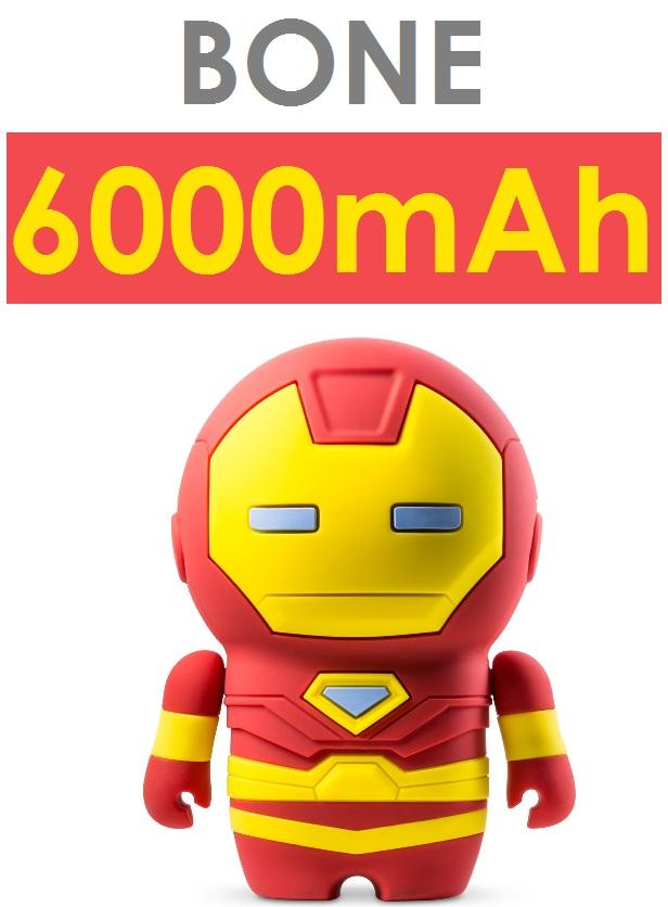 【原廠盒裝】Bone Marvel 漫威 復仇者聯盟系列 鋼鐵人公仔移動電源(6000mAh)