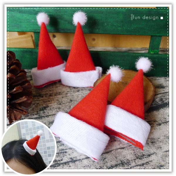 【aife life】聖誕帽造型髮夾-1入/耶誕/麋鹿角/賣萌 小草髮夾/聖誕佈置/聖誕樹/聖誕燈/聖誕帽/聖誕裝/聖誕禮物