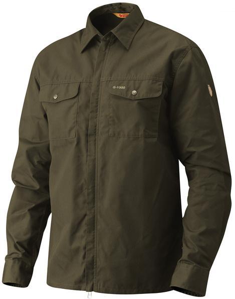 Fjallraven 瑞典北極狐 耐磨襯衫/夾克/薄外套 G-1000 男 81451 246暗棕綠