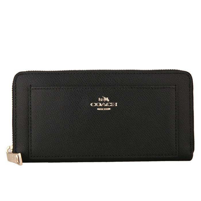 COACH F52648 美國正品質感防刮真皮拉鍊長夾女長款錢包拉鏈手拿包女士皮夾,