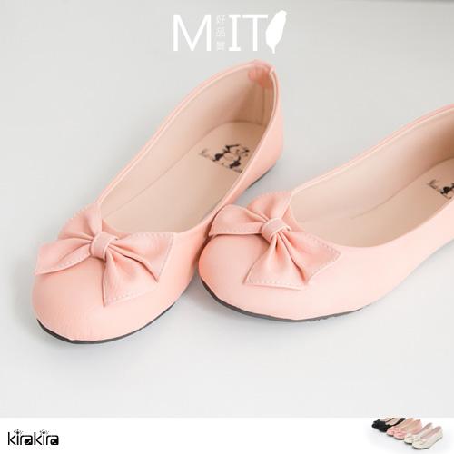 包鞋娃娃鞋 SALE MIT優雅素色蝴蝶結平底娃娃鞋【011600096】