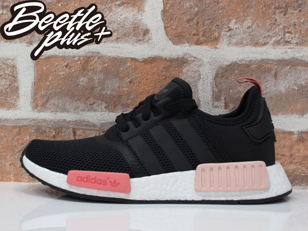 女生BEETLE ADIDAS ORIGINALS NMD RUNNER W 黑粉 愛迪達 編織 慢跑鞋 S75234