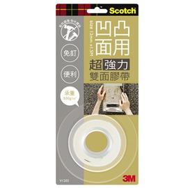 3M Scotch VHB超強力雙面膠帶-凹凸面專用12mm(V1203)